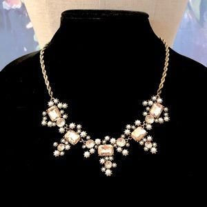 LOFT pearl & crystal constellation necklace NWT$59
